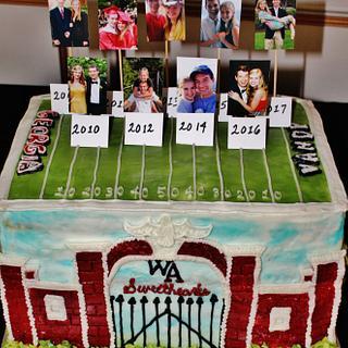 Groom's cake football high school homecoming