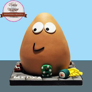 3D Pou cake - Cake by Machus sweetmeats
