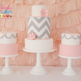 Bridal Shower Trio - Cake by SweetDanni