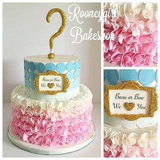 Baby Shower Reveal Cake