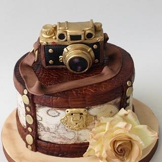Vintage Leica Camera Cake