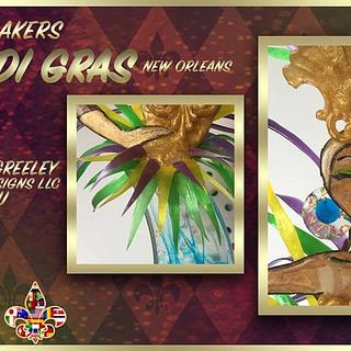 Carnival Cakers - sugar showpiece close up - Cake by Chef Greeley