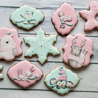 Pink and mint Christmas