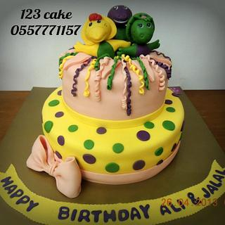 Barney & his friends cake