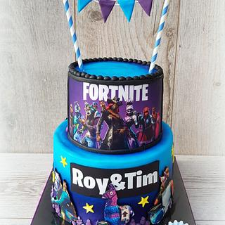 Fortnite edible image cake