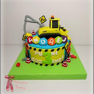 Caterpillar construction cake  - Cake by Balerina Torte