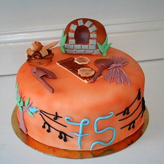 Bread oven cake for 75th birthday