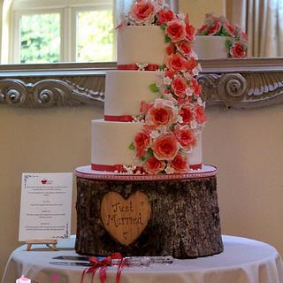 Peach Ombre Rose Wedding