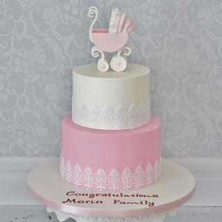 Baby Carriage - Baby Shower Cake!
