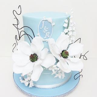 Diamond wedding Magnolia cake