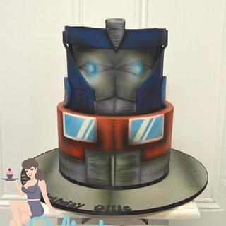 Airbrushed Optimus Prime
