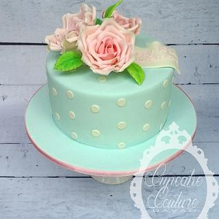 Shabby Chic Anniversary Cake