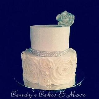 Bling with class, wedding cake.