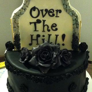 Double-sided Over-The-Hill cake
