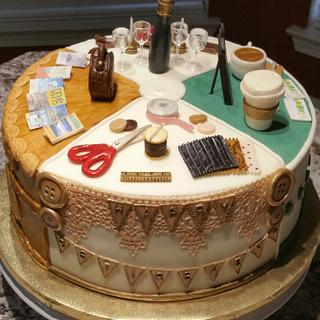 """""""A Few of Her Favorite Things"""" Retirement Cake - Cake by eiciedoesitcakes"""