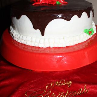 Christmas Poinsetta Cake - Cake by Pam and Nina's Crafty Cakes