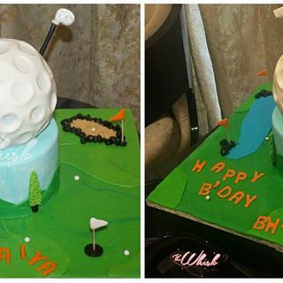 Golf lovers cake