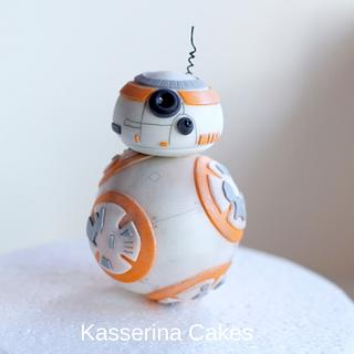BB8 droid cake topper