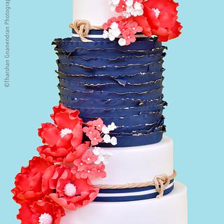 {Nautical Radiance} Wedding Cake
