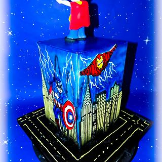 Super hero 3 cake