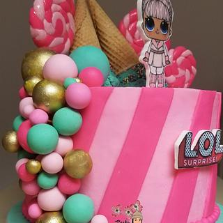 LOL Snowbunny Doll Cake