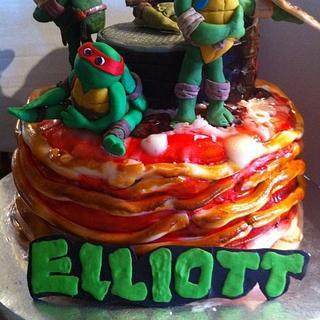 "Ninja Turtles ""Cowabunga Pizza Cake"""