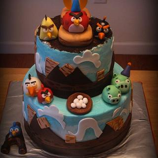 Angry Birds Cake - Cake by Deborah