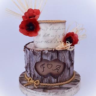 Romantic bark cake - Cake by Angela Cassano