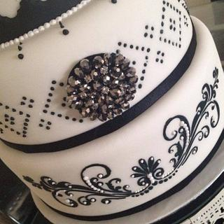 first attempt black and white cake