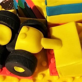 Yellow Lego cake