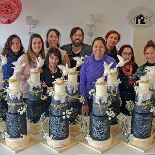 Country wedding cake class tour!