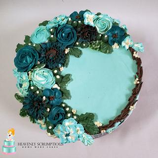 Buttercream Flower Cake ! - Cake by Iwona Sobejko