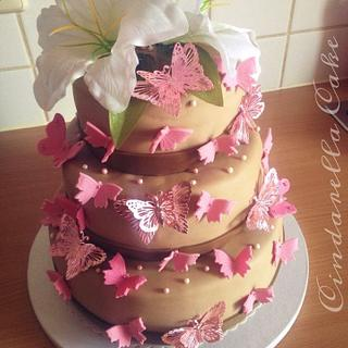 Butterfly Wheddingcake  - Cake by CindarellaCake