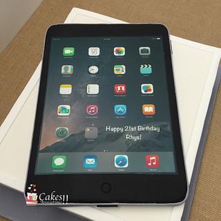 Apple iPad Birthday Cake - Cake by CakesAnnietime