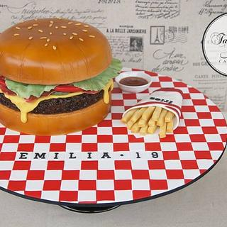 Hamburger cafe