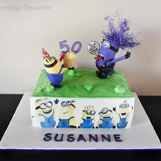 """I Don't Do 50!!!"" Minions Cake"
