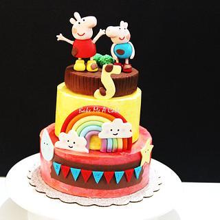 Peppa pig Buttercream Cake