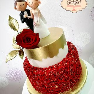 Rojo pasión!! Pastel de bodas  - Cake by Enrique FARIAS