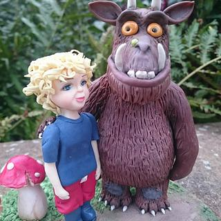 Tobias and The Gruffalo cake topper