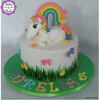 Rainbow Unicorn - Cake by BakedbyBeth