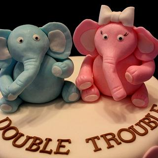 Double Trouble Babyshower cake - Cake by Jewell Coleman