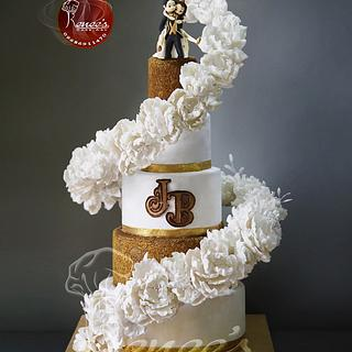 Floating Flower Wedding Cake By Purbaja B Chakraborty
