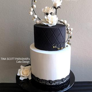Bold - Black and white wedding cake