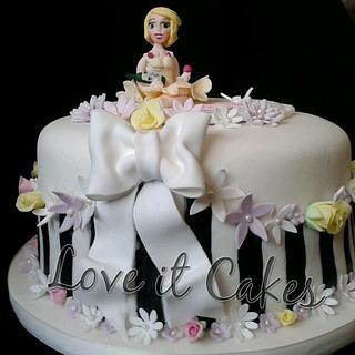 50th pretty cake