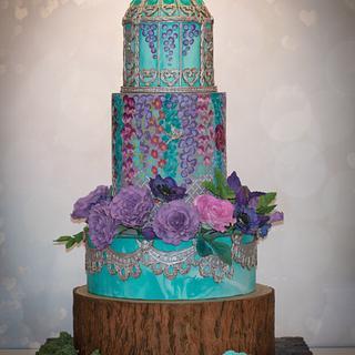 Birdcage Garden Cake