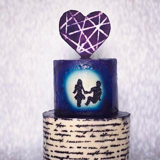 Love Stories Are Written in Heaven  - Cake by PralineDesignercakes