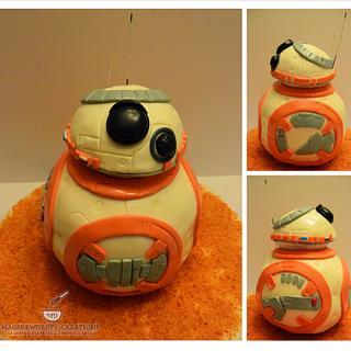 BB8 Star Wars Droid Cake