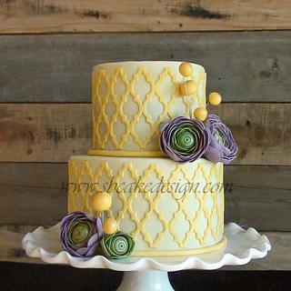 Ranunculus Lattice Cake