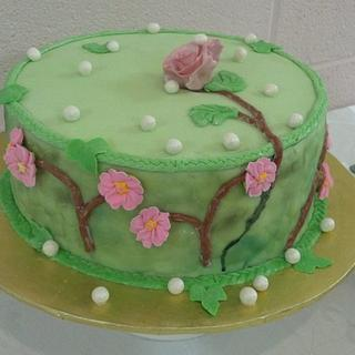 """""""Rose Beyond the Wall"""" Cake - Cake by Donna Pope-Johnson"""