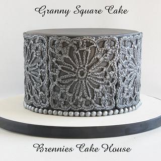Granny Square Cake